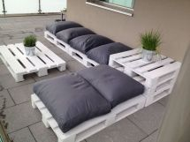 Outdoor Pallet Seats Home