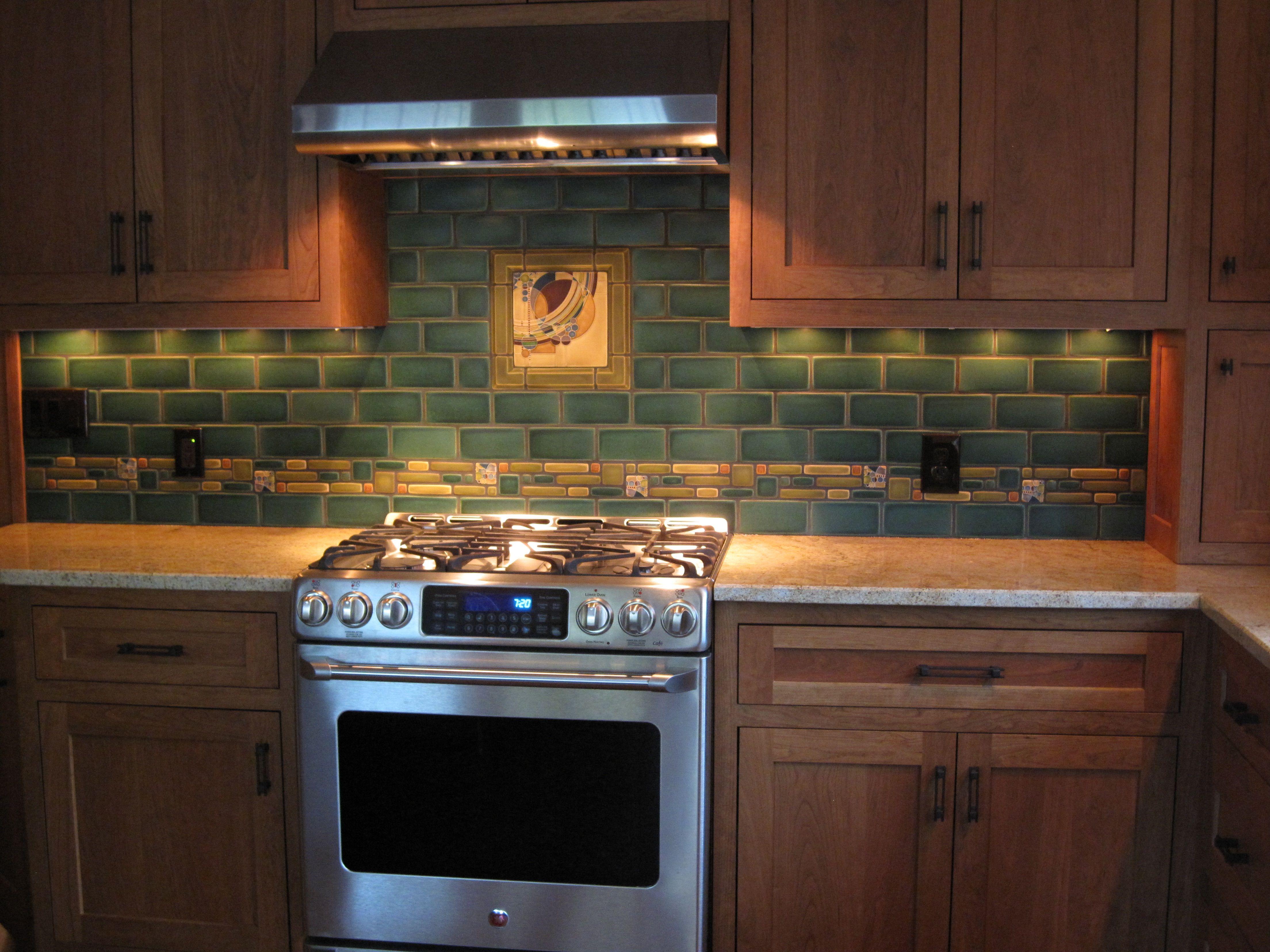 craftsman kitchen backsplash narrow cart march balloons mosaic style pinterest