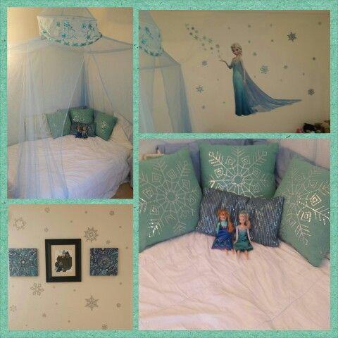 Frozen Inspired Bedroom on Pinterest  Frozen Bedroom