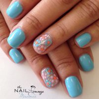 Spring gel nail art design | Nail Art | Pinterest