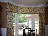 Bay window valance, MAMS Designs | window dressing | Pinterest