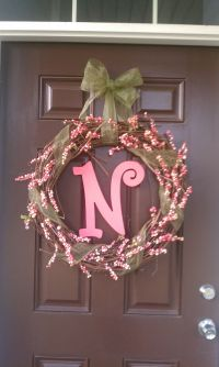 Spring front door wreath. | Crafts | Pinterest