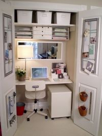 closet office | For the Home | Pinterest