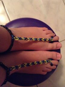Beach Sandals Craft Life Rainbow Loom Barefoot