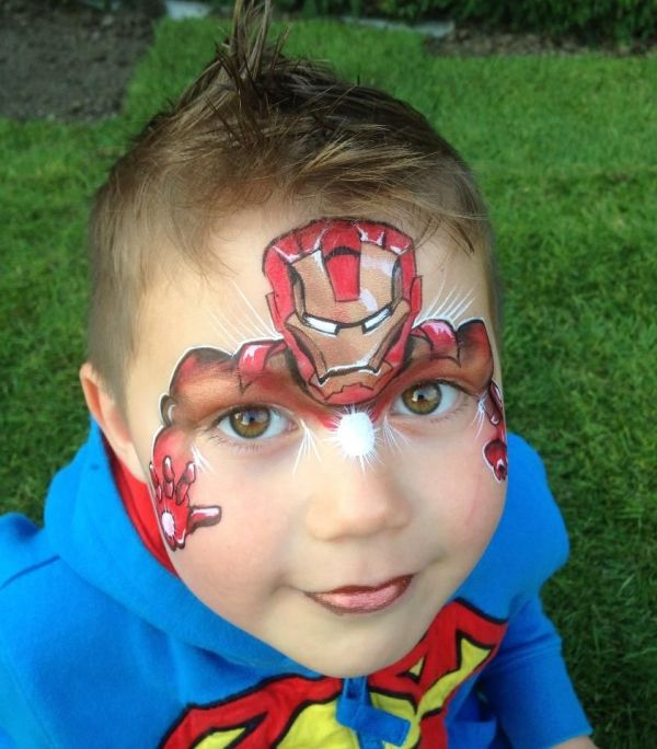 Iron Man by Aimees Creations Face Painting Pinterest