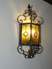 Spanish revival light fixture.