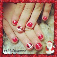 Kids santa christmas nails | My nail art all hand painted ...