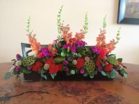 Dining Room Table Centerpiece | flower arrangement | Pinterest