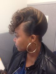 french roll black women hair