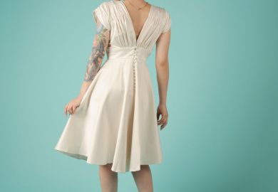 Black Pin Up Wedding Dress