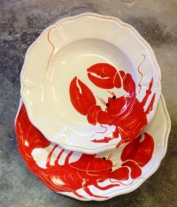 Lobster dinnerware | Our studio in Montelupo. | Pinterest