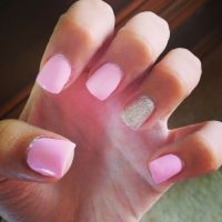 Gel Nails. Light pink with silver | nails | Pinterest