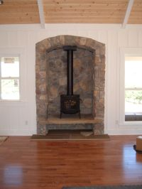 Stone Alcove fireplace | Home remodeling ideas | Pinterest