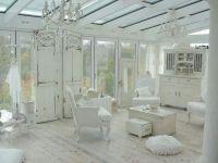 White sunroom | Country Shabby Chic | Pinterest