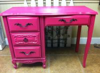 Hot pink desk | For the Home | Pinterest