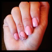 pink bling nails crafts