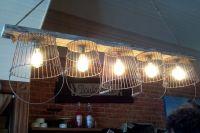 Wire Basket Light Fixture | My Home | Pinterest