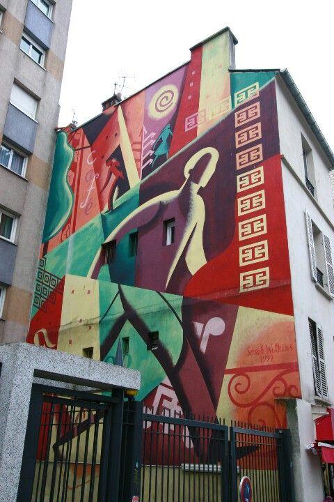 Paris 10 - rue Jean-Pierre timbault - street art - sarah Wilkins 1997