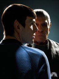 Two great actors, one character. Thanks to the genius of Gene Roddenberry.