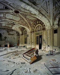 The ballroom of the Lee Plaza Hotel, Detroit.