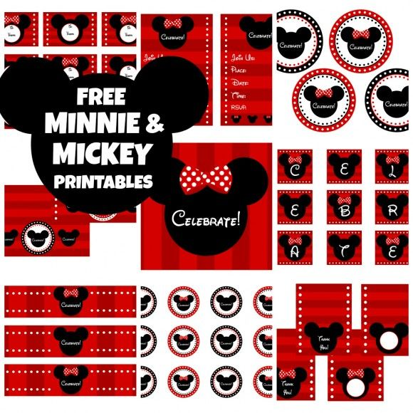 Free Mickey Mouse party printables!