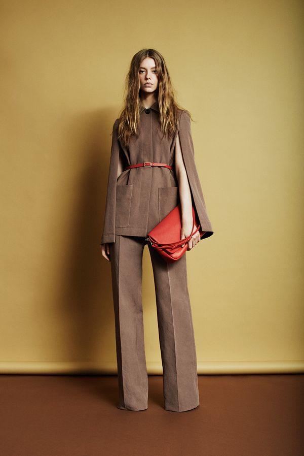 Louis Vuitton Resort 2014 brown suit long sleeve