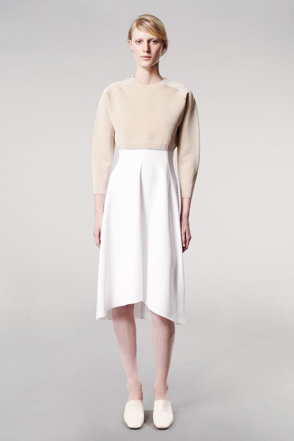 Reed Krakoff Resort 2014 white skirt sweater
