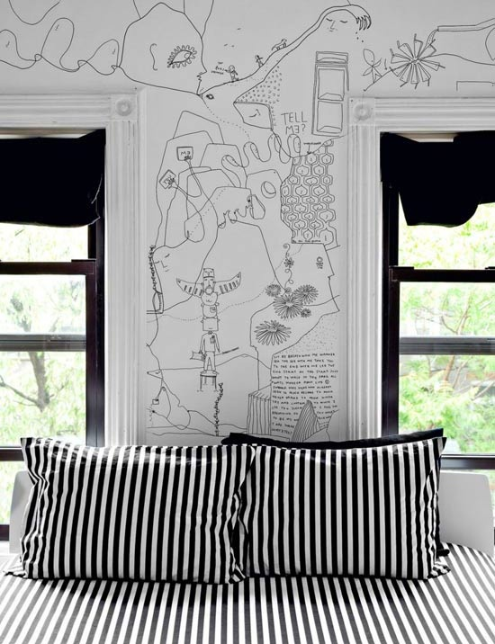 = hand drawn walls and stripes