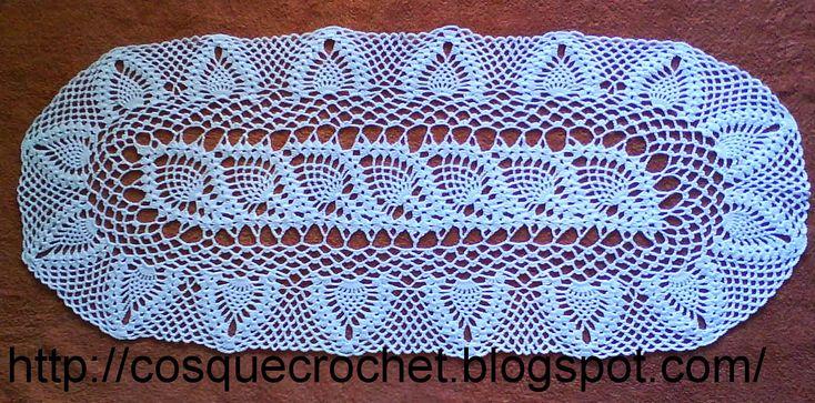Crochet Pineapple Table Runner Pattern