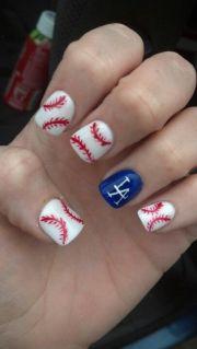 la sports doll themed nails