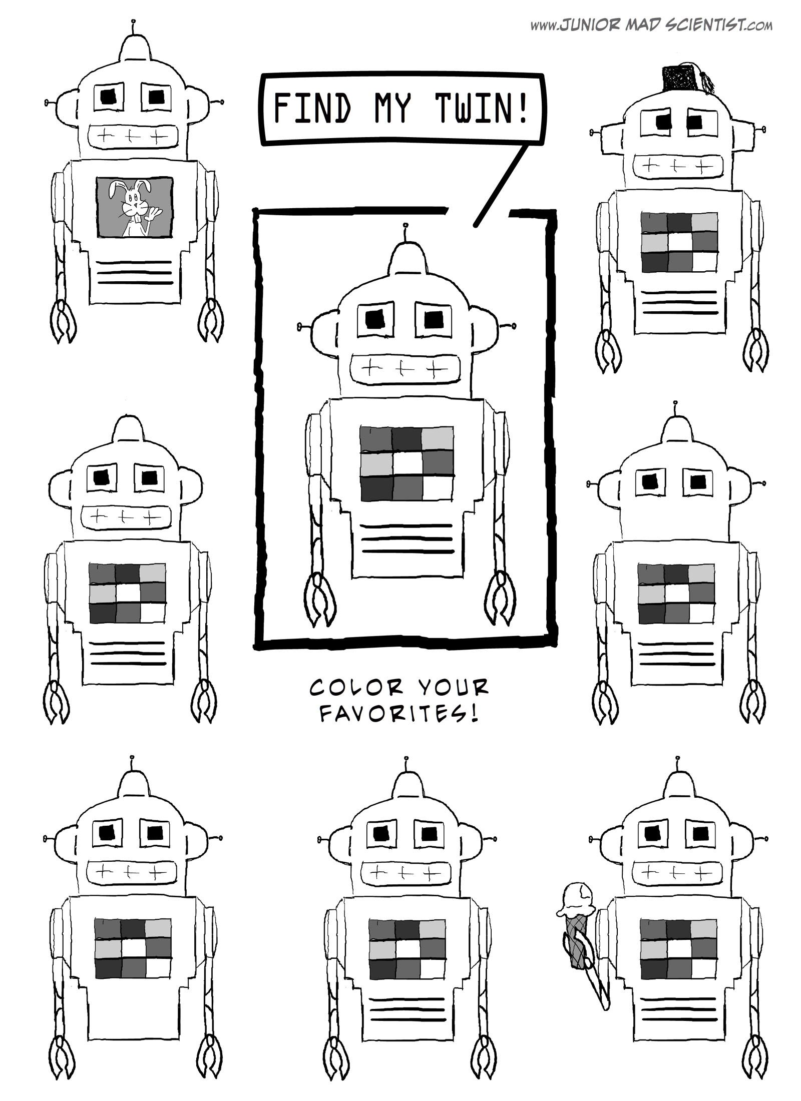walk in the sunshine: Robot Crafts and Printables