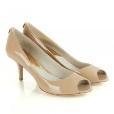 Michael Kors Nude Winslow Open Toe Women's Court Shoe