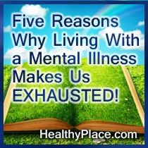 Recovering from mental illness often makes us feel exhausted. This blog explores five reasons why.