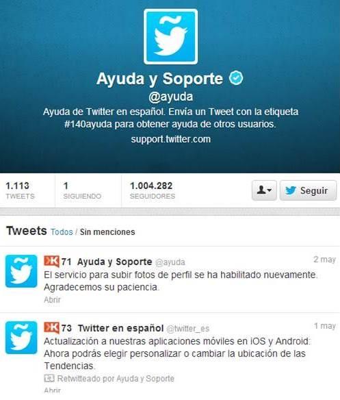Soporte técnico Twitter, cuentas suspendidas, social media