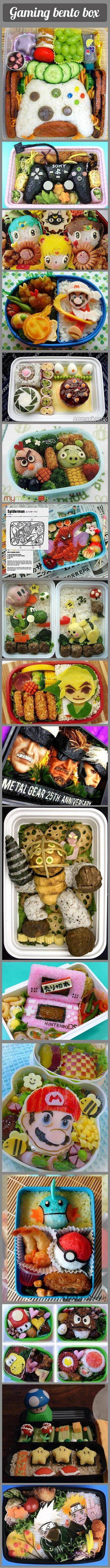 Here are some cool bento boxes that geeky gamers would love.