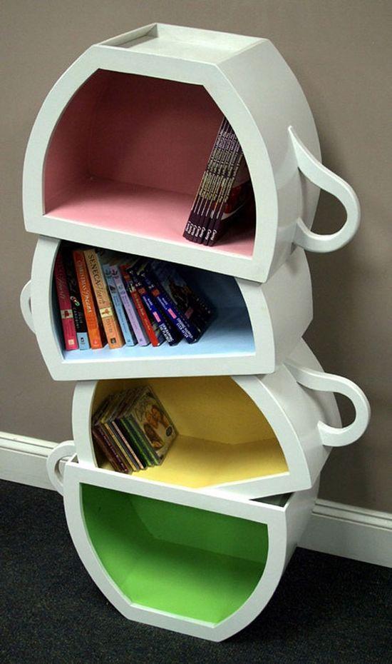 Creative book shelves