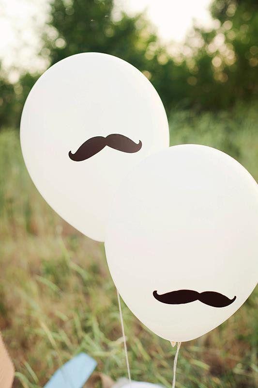 Mustache balloons!