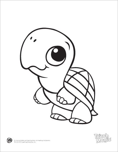 LeapFrog printable: Baby Animal Coloring Pages