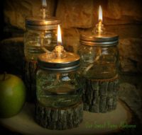 DIY Mason Jar Oil Lamps, EMERGENCY supplies that are cool