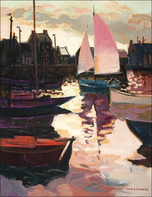 Alain A. Fournier (1931-1983) Voiliers au port
