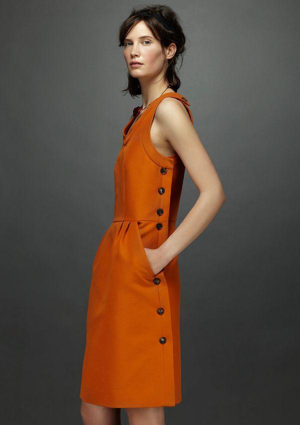 Marni Resort 2014 orange dress buttons