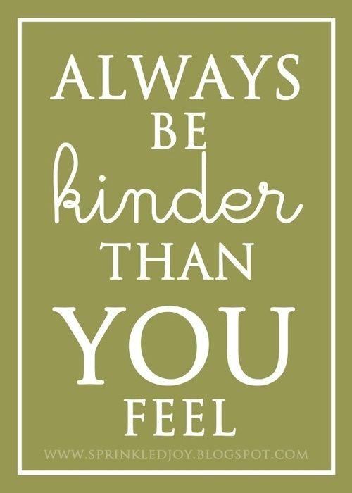 Kindness....
