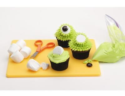 Lots of monster cupcake recipes for Halloween or a birthday party.