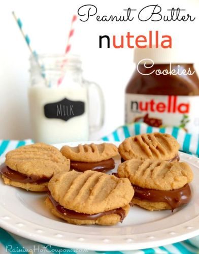 Peanut Butter nutella Cookies Recipe (Only 4 Ingredients!)