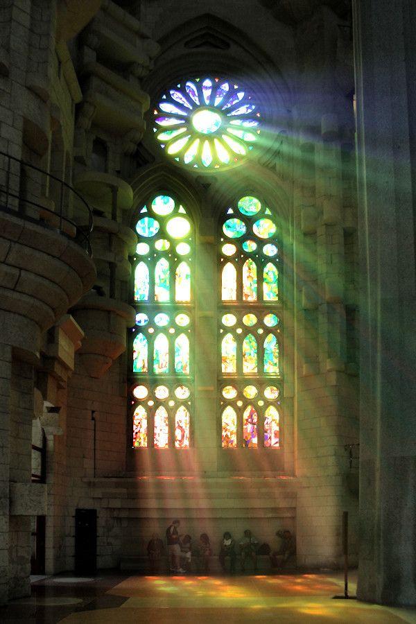 """Glorious Light"" by Carlos Gotay, Sagrada Familia, Barcelona"