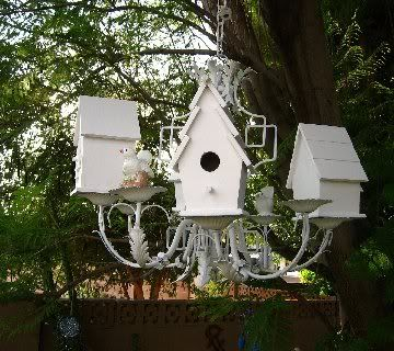Birdhouse Chandelier