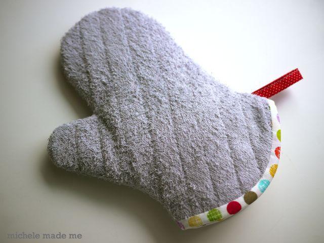 old towel mitten