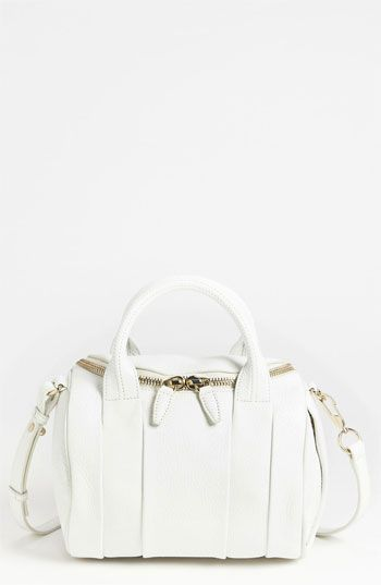 Alexander Wang 'Rockie - Pale Gold' Leather Crossbody Satchel available at #Nordstrom