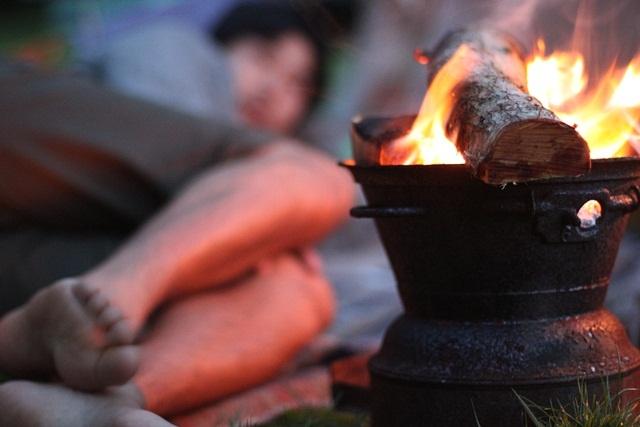 Garden campfire