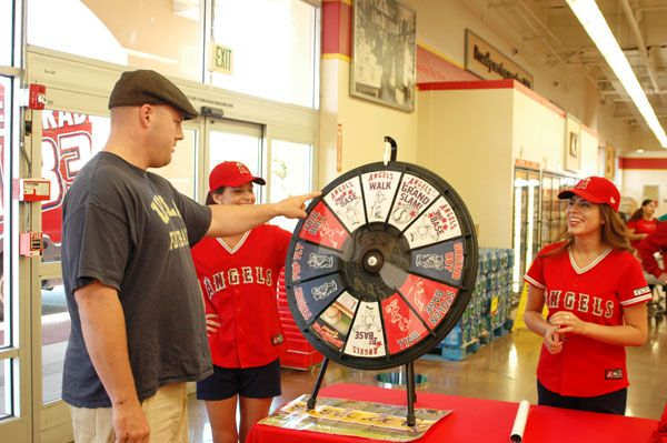 He scored Angels tickets with the Prize Wheel.